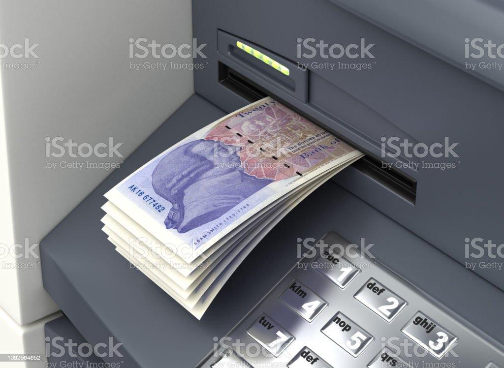 Withdrawal English Pound stock photo