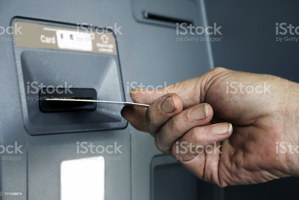 Withdrawal royalty-free stock photo
