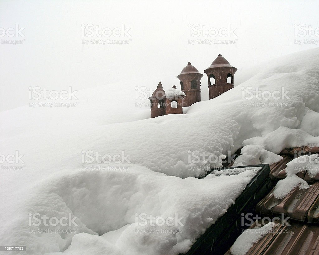 withe snow withe sky royalty-free stock photo