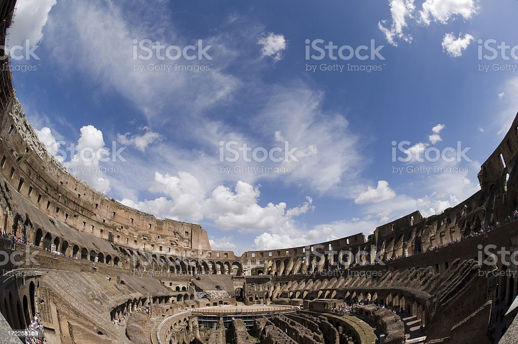 Within the Colosseum royalty-free stock photo