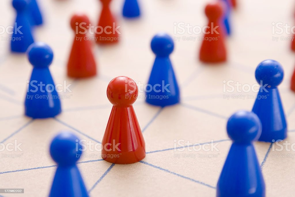 Within the networking group royalty-free stock photo
