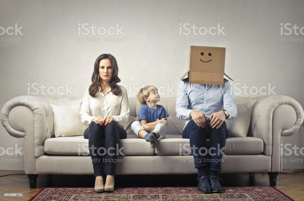 Without daddy stock photo