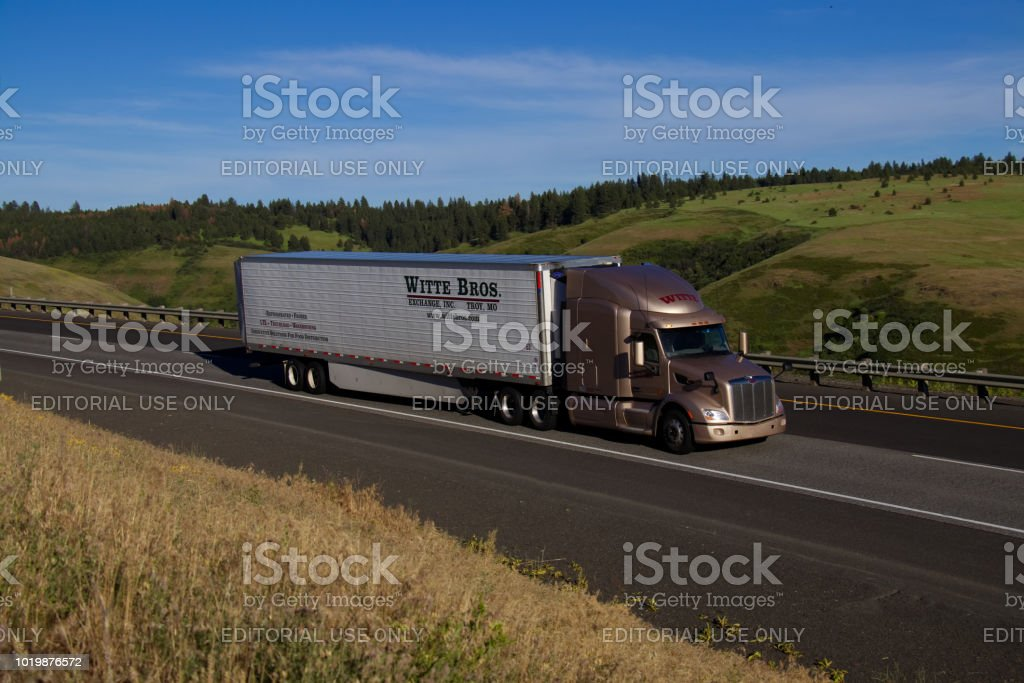Witte Brothers Semi-Truck stock photo