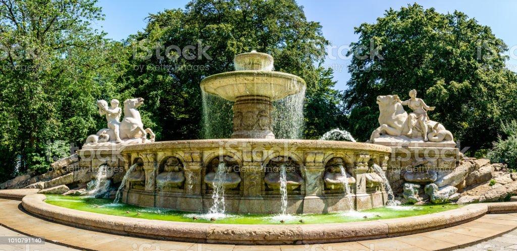 Wittelsbacherbrunnen in München - Lizenzfrei Alt Stock-Foto