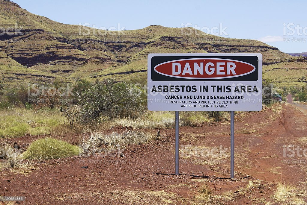 Wittenoom Asbestos Warning Sign stock photo