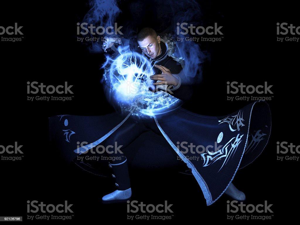 Wizard character stock photo