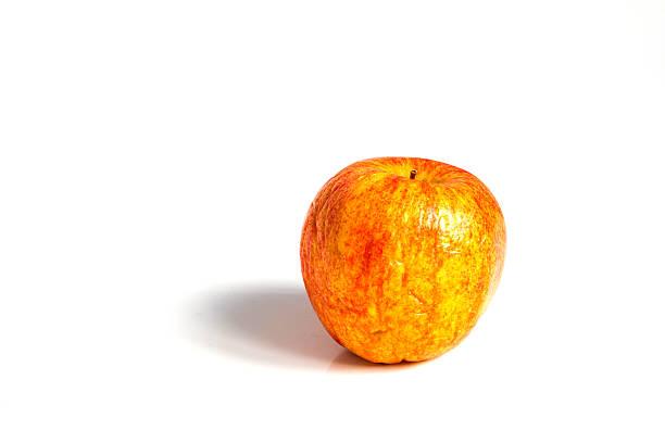 wizen apple presented as old aging skin - gangrena fotografías e imágenes de stock