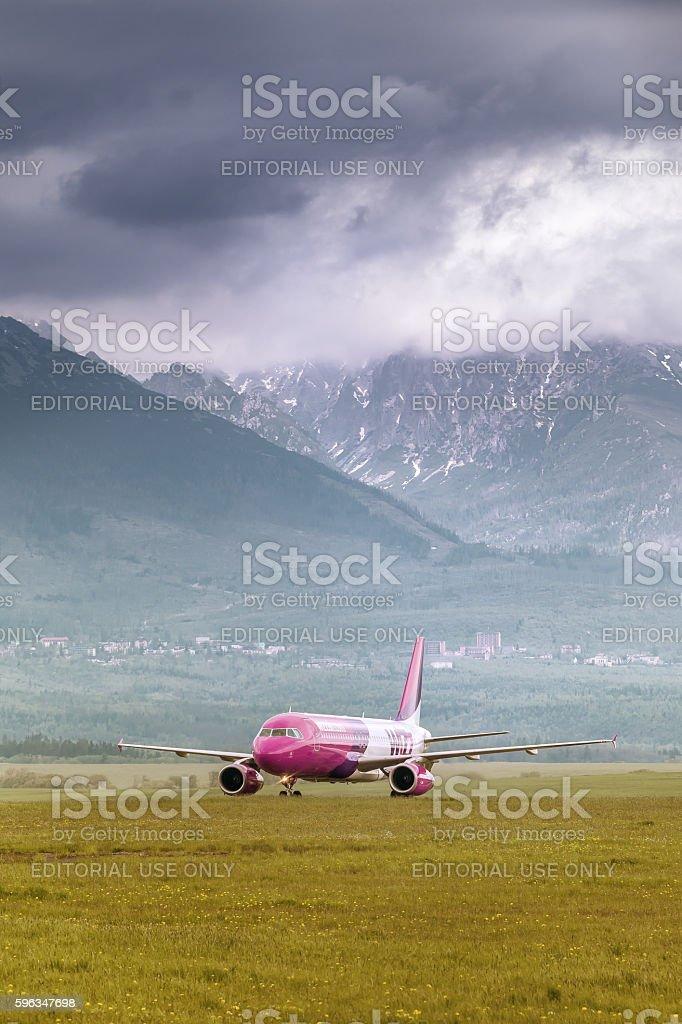 Poprad, Slovakia - May 13, 2015: Wizz Air A320 royalty-free stock photo