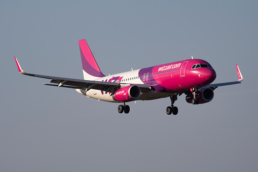 Wizz Air Airbus A320 Halwz Passenger Plane Arrival And Landing At Budapest Airport Stock Photo Download Image Now Istock