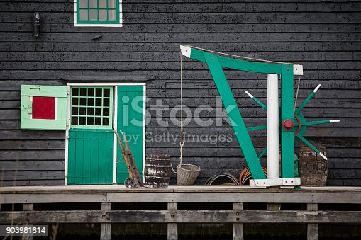a part of the traditional historic windmills at Zaanse Schans