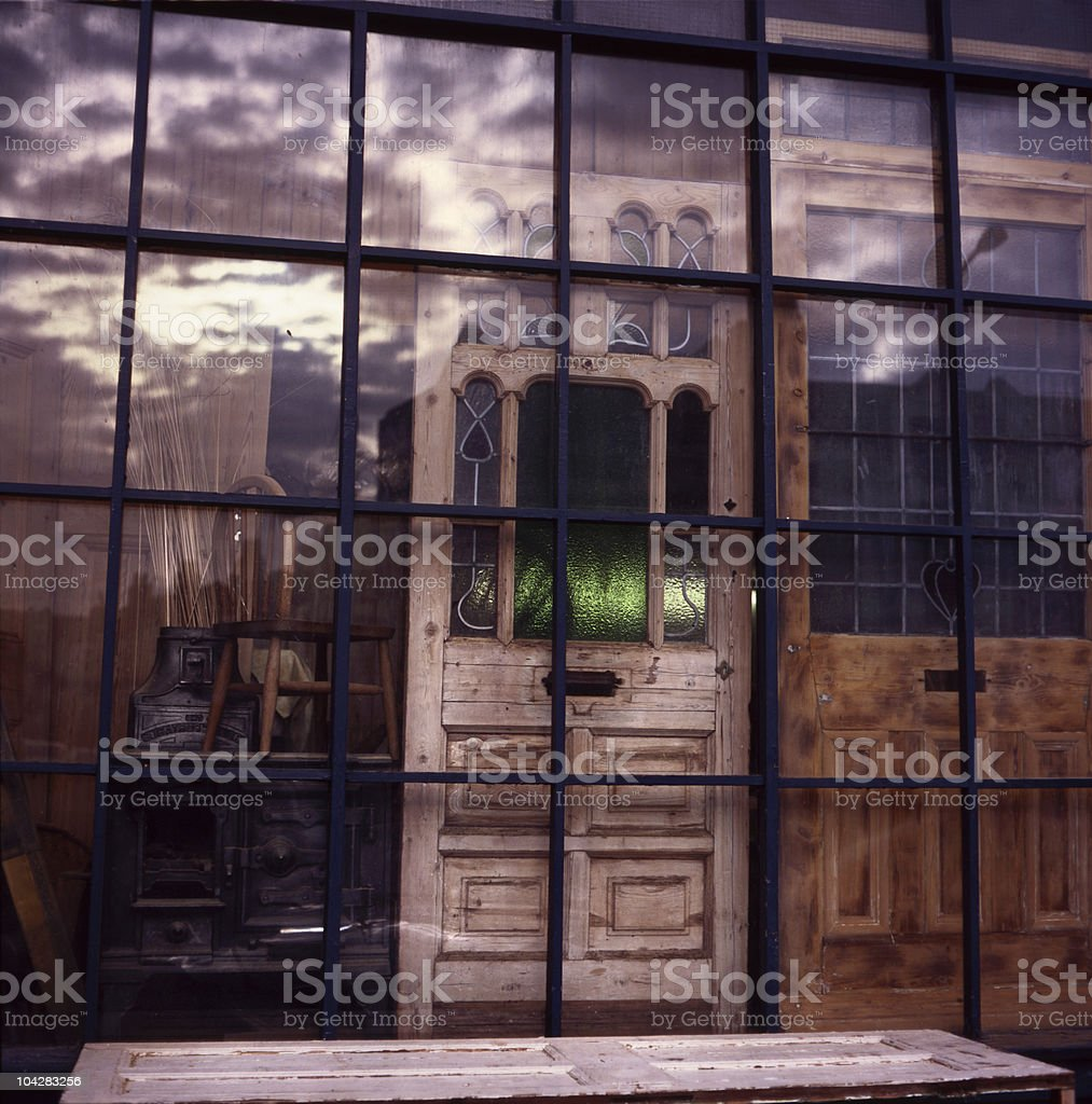 Wndows and doors shop, Lewisham, London royalty-free stock photo