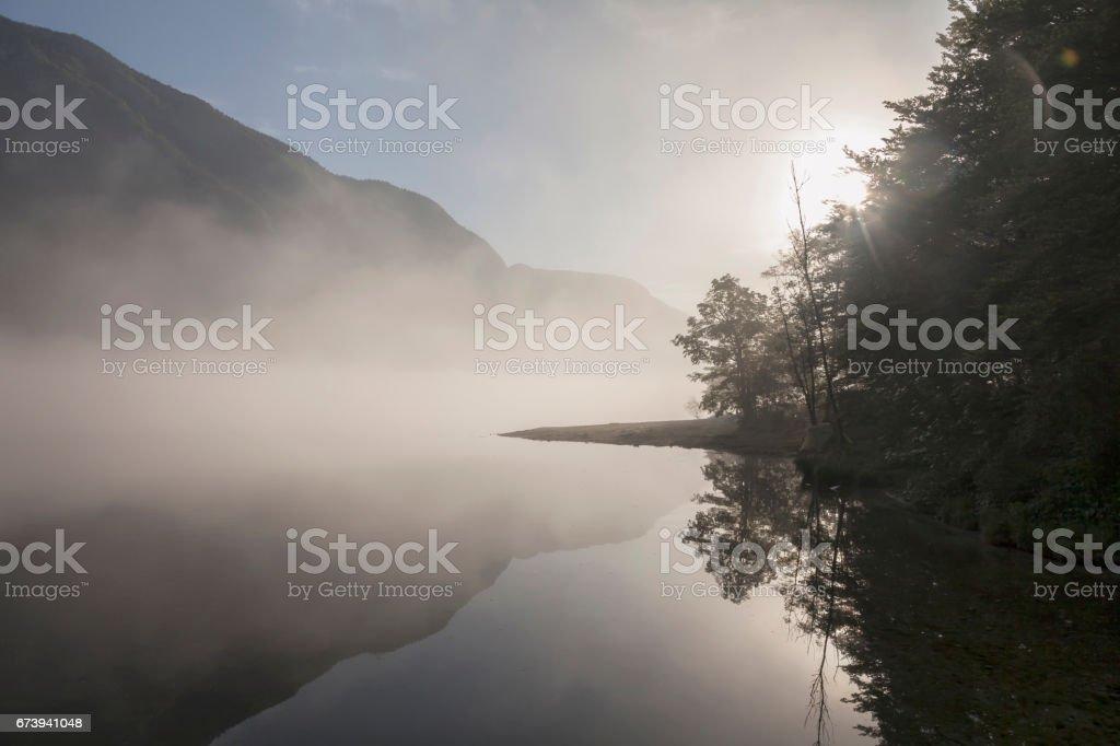 Wocheiner See stock photo
