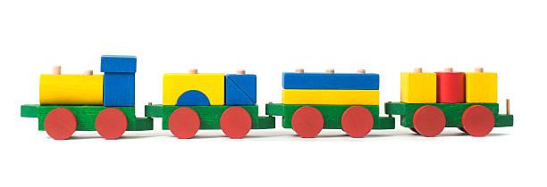 wodden Spielzeug-Holzeisenbahn – Foto
