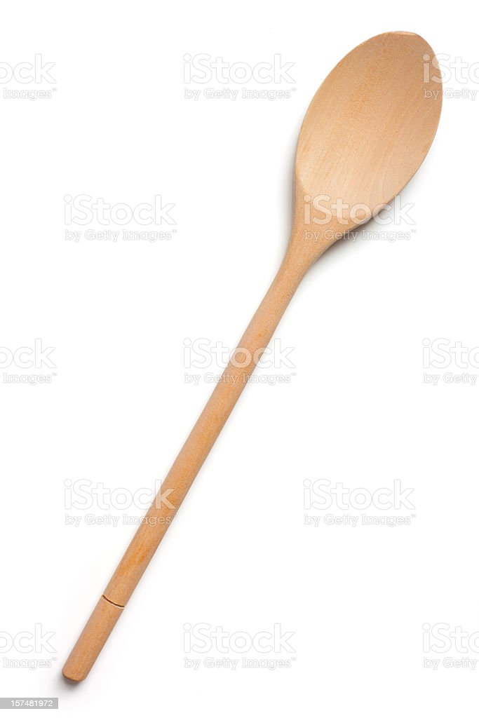 Woden Spoon isolated on white royalty-free stock photo