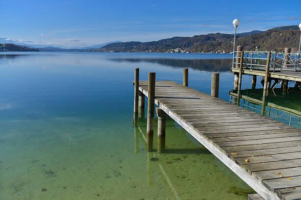 woerthersee lake, österreich. - wörthersee stock-fotos und bilder