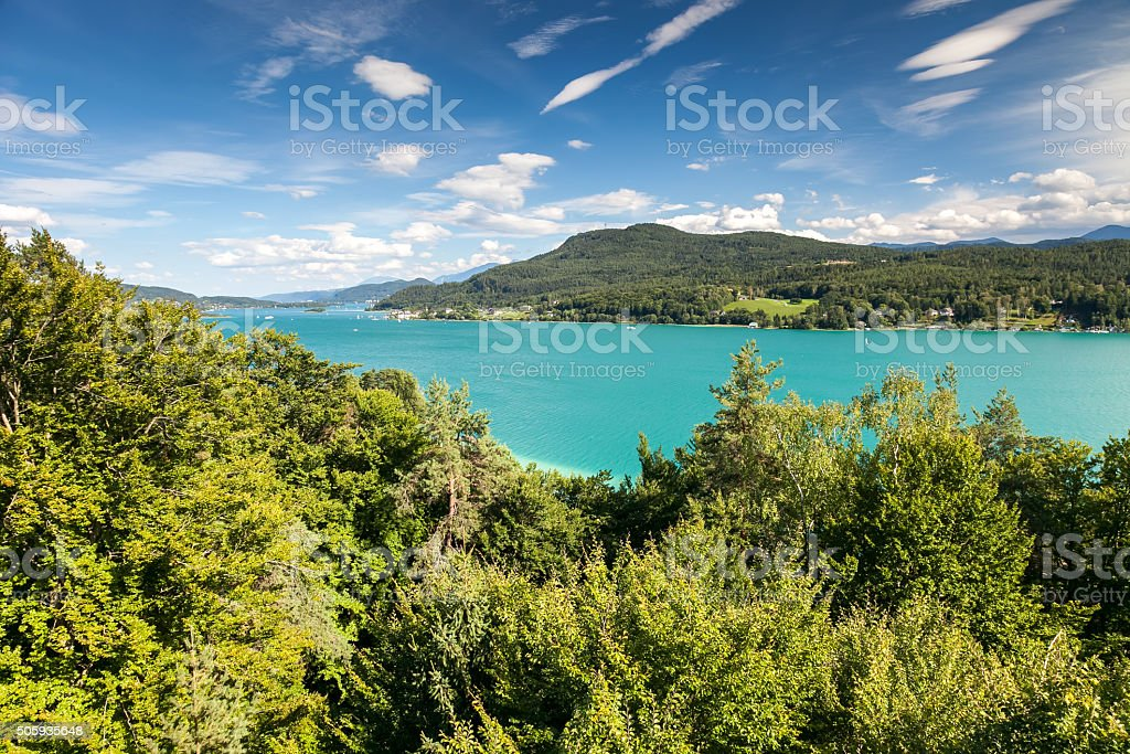 Woerthersee lake, Austria stock photo