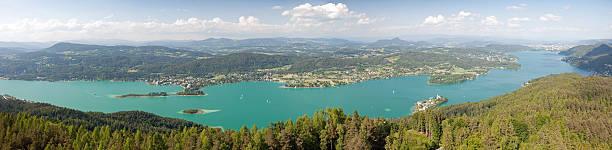 woerthersee lake - wörthersee stock-fotos und bilder
