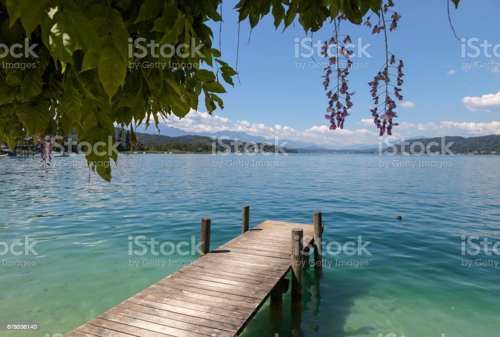 Woerthersee stock photo
