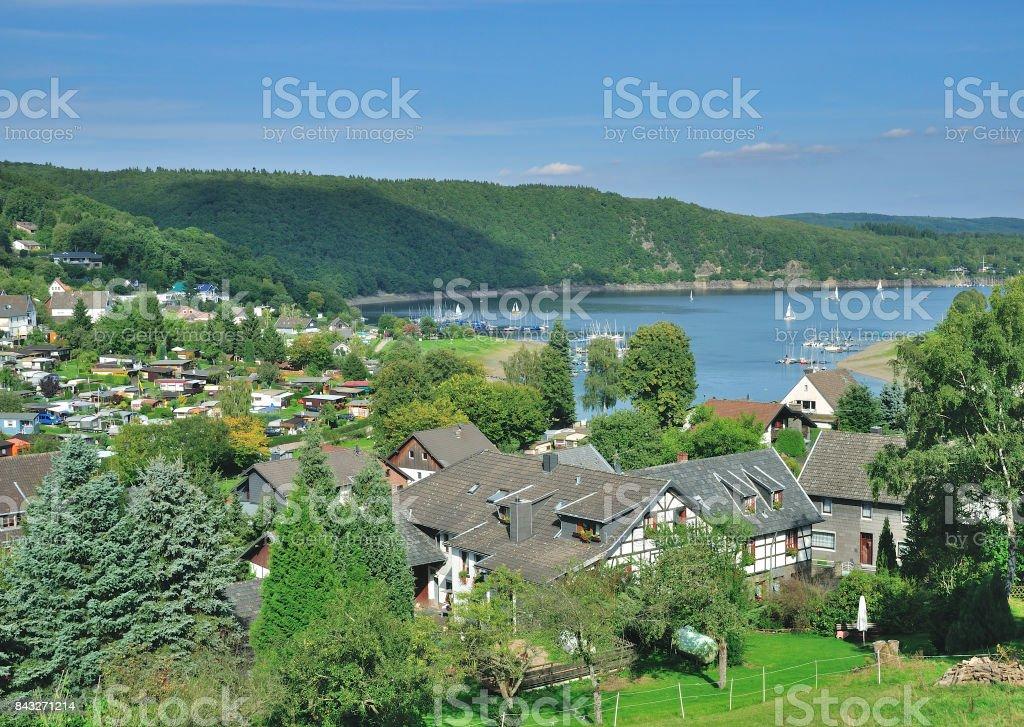 Woffelsbach,Rur Reservoir,Eifel,Germany stock photo