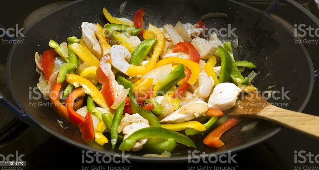 Wok stir-fry royalty-free stock photo