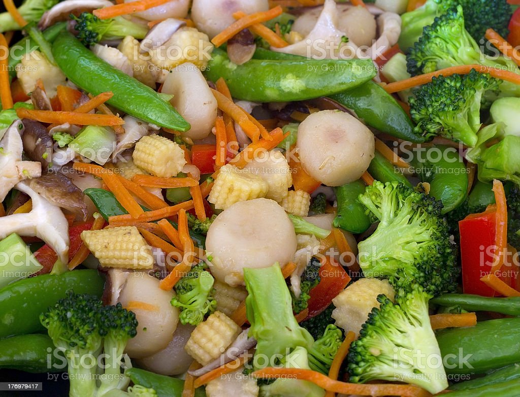 Wok vegetables stock photo