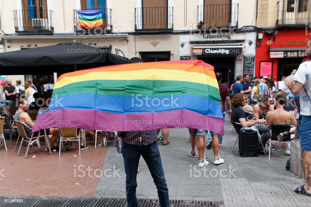 Wold pride madrid 2017 stock photo