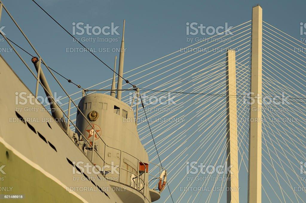 Wold War 2 soviet submarine memorial Lizenzfreies stock-foto