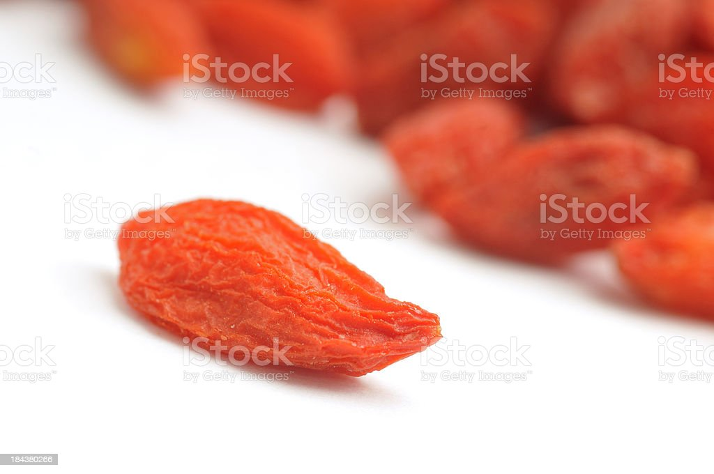 Wolf(goji) berry macro royalty-free stock photo