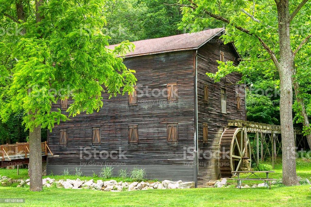 Wolf Creek Grist Mill stock photo