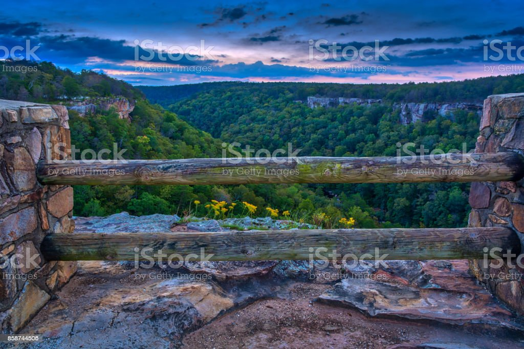 Wolf Creek Overlook stock photo
