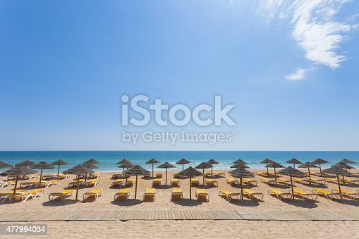 At the beach of Vale do Lobo, Algarve, Portugal