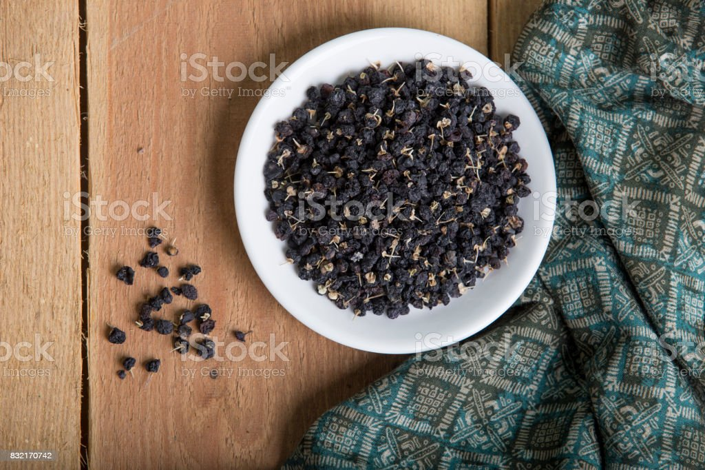 Wolfberries 黒 ストックフォト