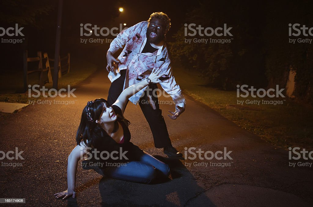 Wolfman Attack stock photo