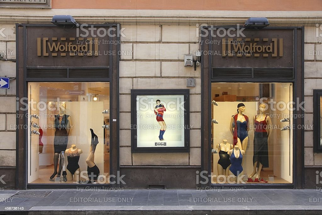 Wolford - Lingerie shop royalty-free stock photo