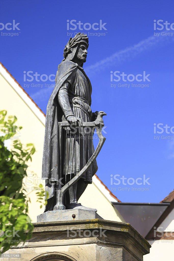Wolfram von Eschenbach monument, Bavaria, Germany stock photo