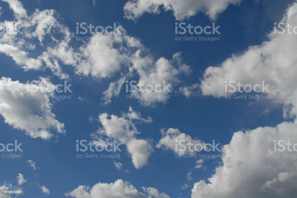 Wolken am spanischen Himmel royalty-free stock photo