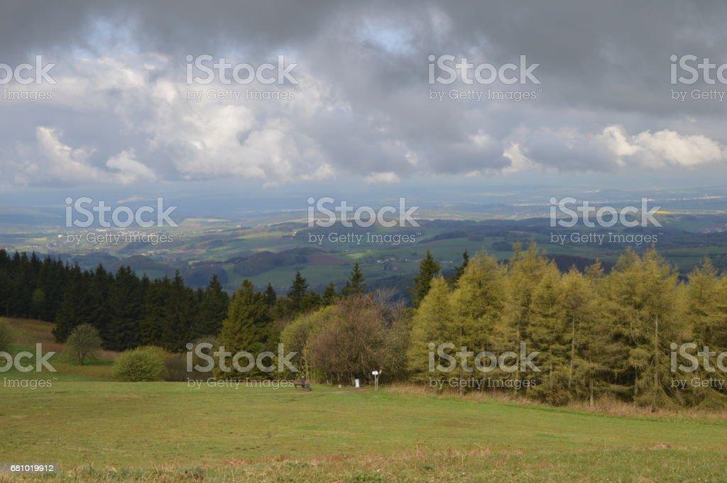 Wolken über Tälern royalty-free stock photo