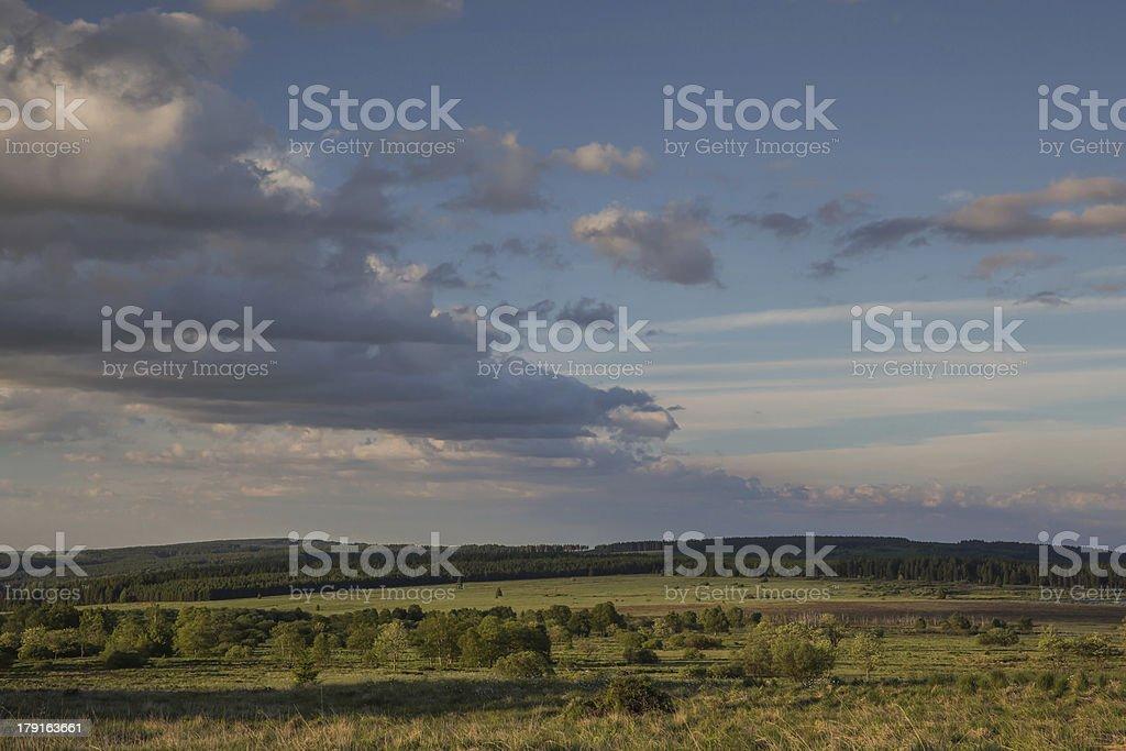 Wolken ü Venn stock photo