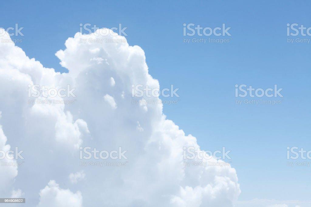 Wolken, Wolkenberge aus einem Flugzeug gesehen, Luftaufnahme - Royalty-free Aerial View Stock Photo