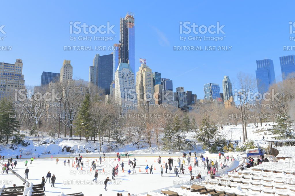 Wollman Rink in Central Park stock photo