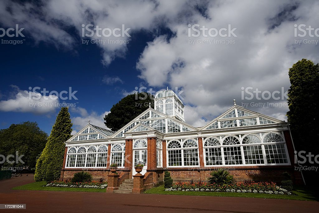 Wolverhampton Park Conservatory stock photo