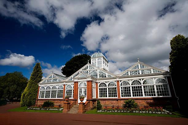 Wolverhampton Park Conservatory stock photo