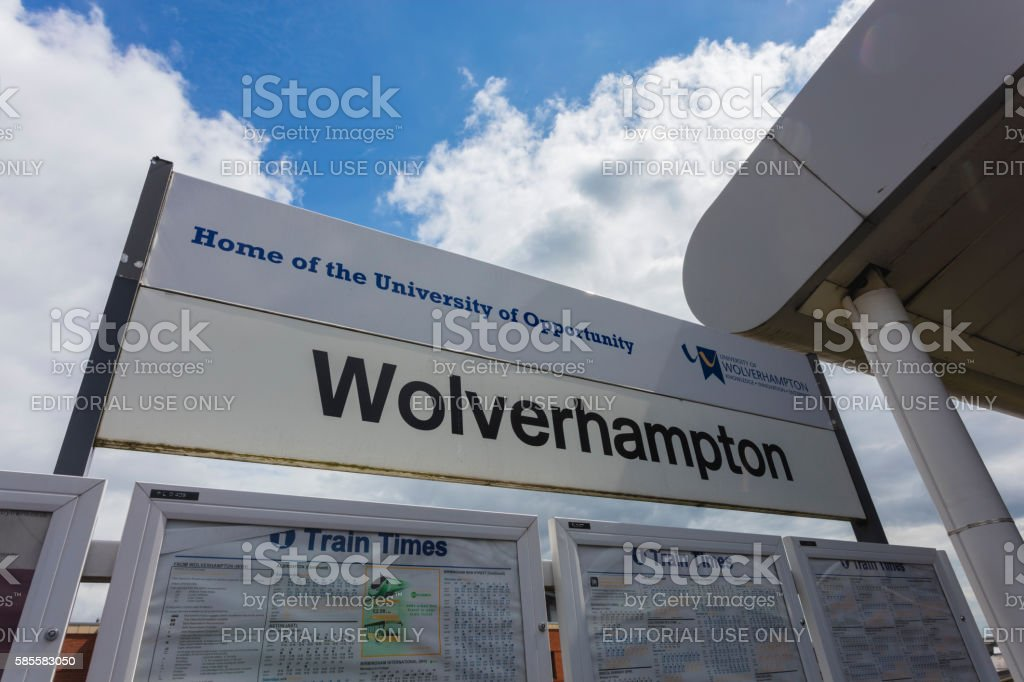 Wolverhampton Train Station stock photo