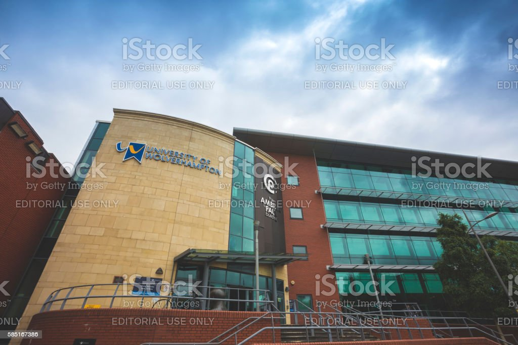 Wolverhampton University stock photo