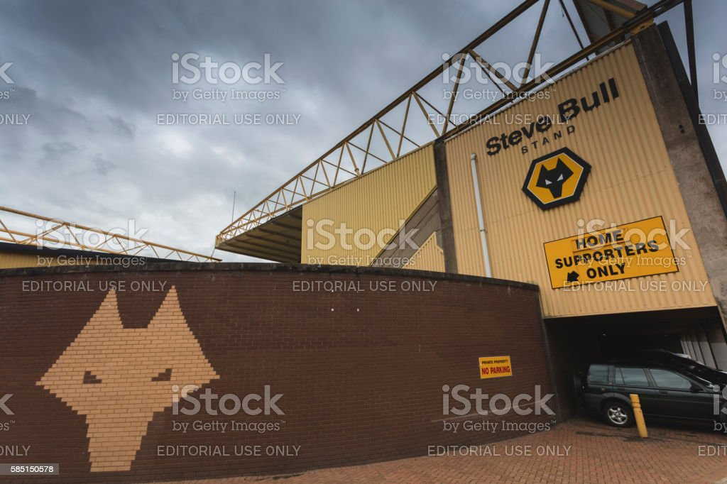 Wolverhamton Wanderers Football Stadium stock photo