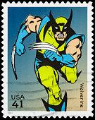 USA Wolverine postage stamp
