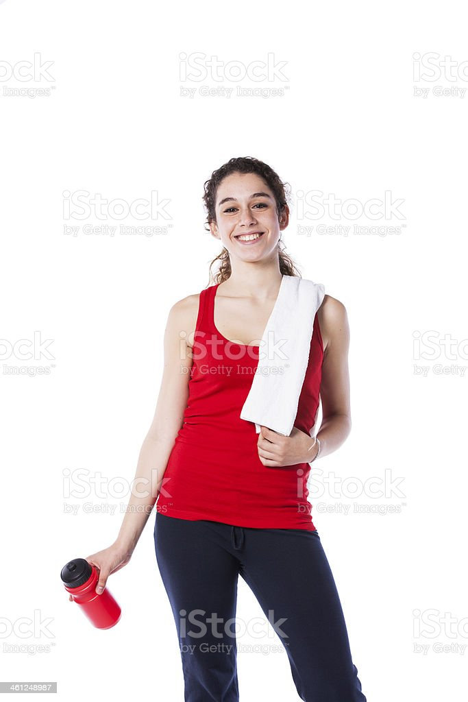 woman after her exercise royalty-free stock photo