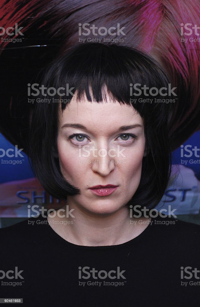 woman aggresive stare royalty-free stock photo