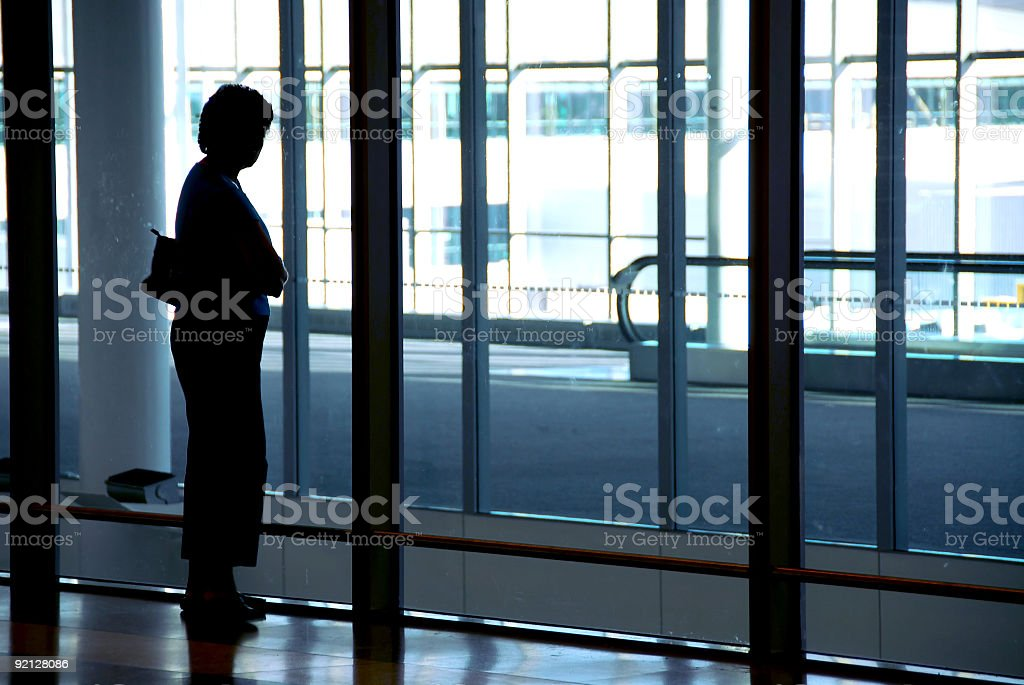 Woman airport royalty-free stock photo