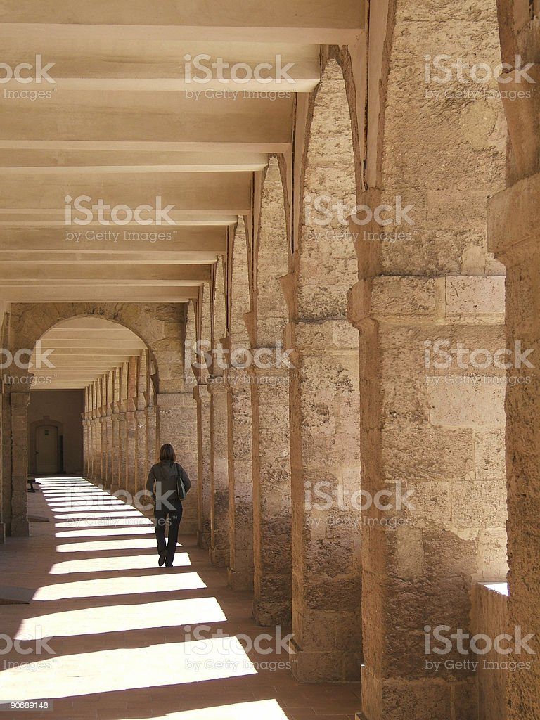 Woman and arch royalty-free stock photo